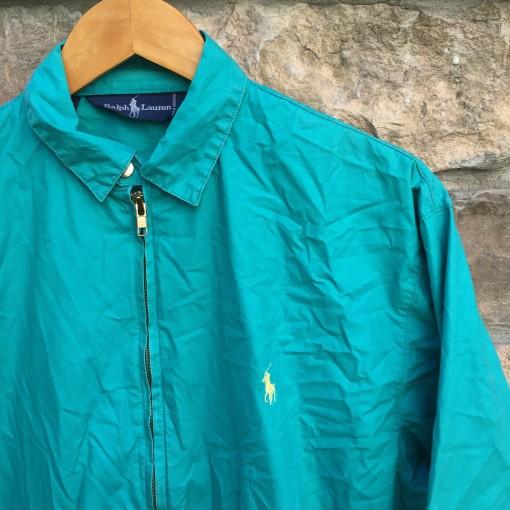 vintage polo ralph lauren aqua jacket