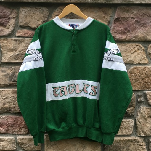 80's Philadelphia Eagles Starter NFL Crewneck Size xL