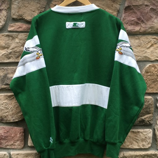 vintage kelly green eagles crew neck