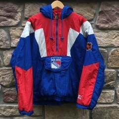 Vintage New York Rangers Starter NHL pullover jacket 90's