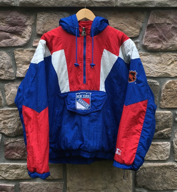 90 s New York Rangers Starter Pullover NHL Jacket Size Medium  78c62a887
