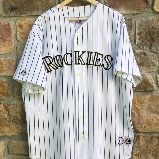 vintage 90's Colorado Rockies majestic MLB jersey size XL