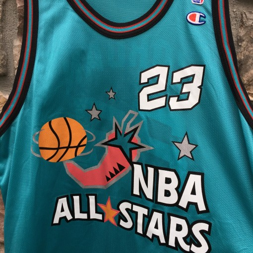 vintage 1996 michael jordan champion chili pepper all star jersey size 48