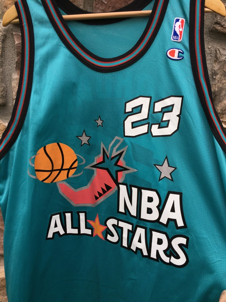 vintage 1996 michael jordan champion chili pepper all star jersey size 48 3ca461f5e