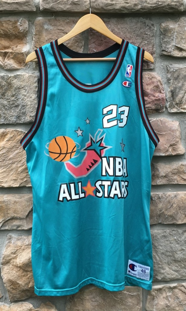 check out d3de4 dd885 1996 Michael Jordan Eastern Conference NBA All Star Champion Jersey Size 48