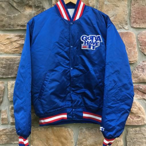 vintage 80's Pepsi Cola Stater satin jacket size large