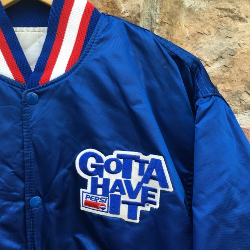 80's Pepsi Gotta have it Starter satin bomber jacket size large