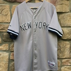 90's New York Yankees grey majestic jersey size large