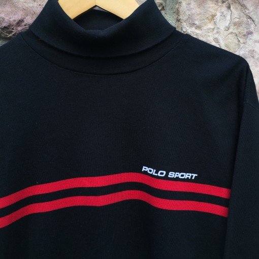 vintage 90's polo sport shirt black red