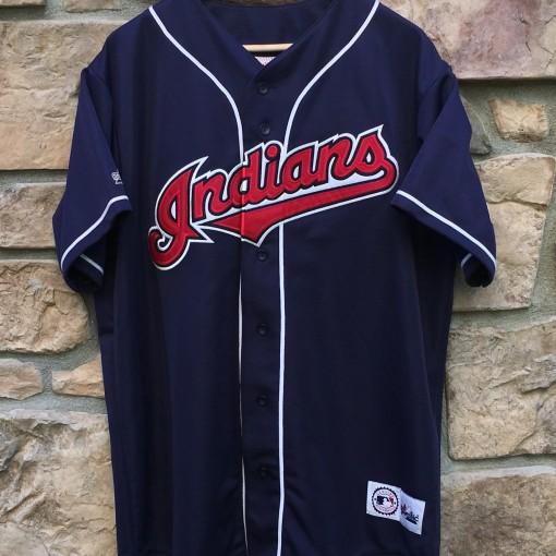 1994 Cleveland Indians navy blue Majestic jersey size XL