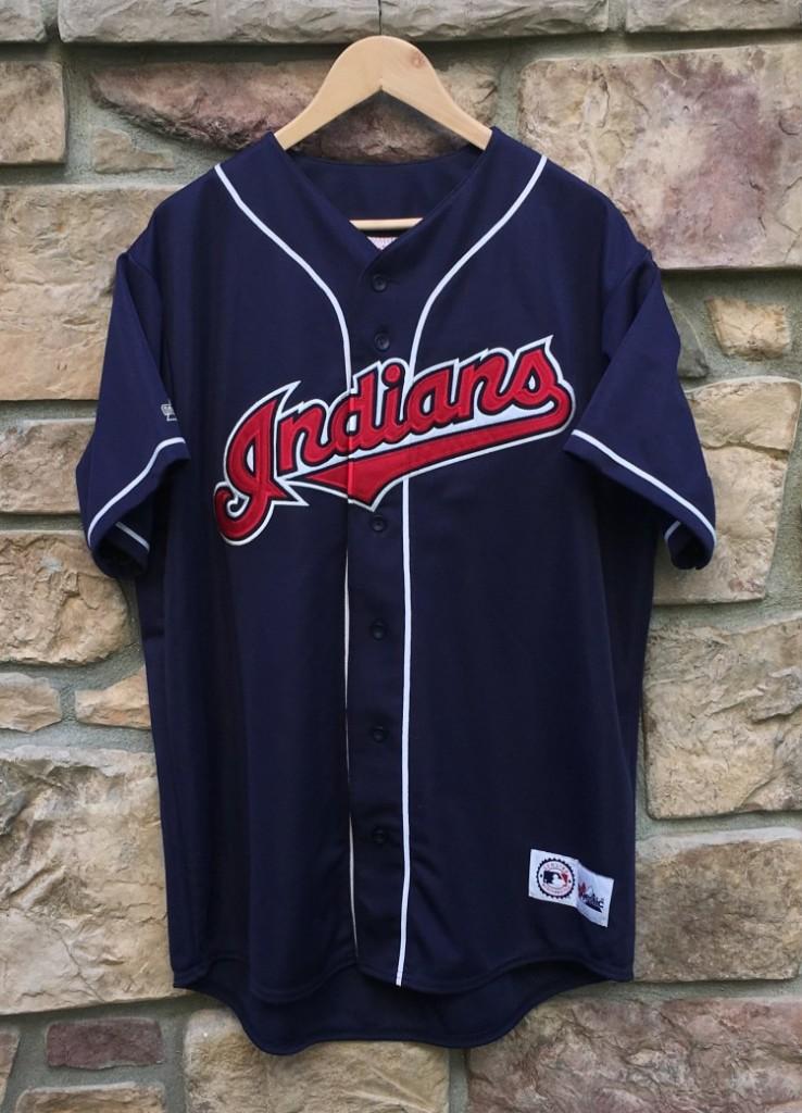 1994 Cleveland Indians Majestic MLB Jersey Size XL Rare Vntg