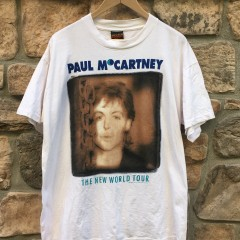 Vintage Paul McCartney 1993 the new world tour t shirt