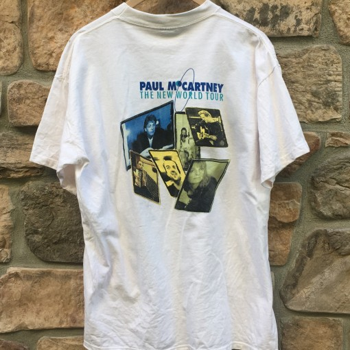 vintage 90's Paul McCartney two sided t shirt