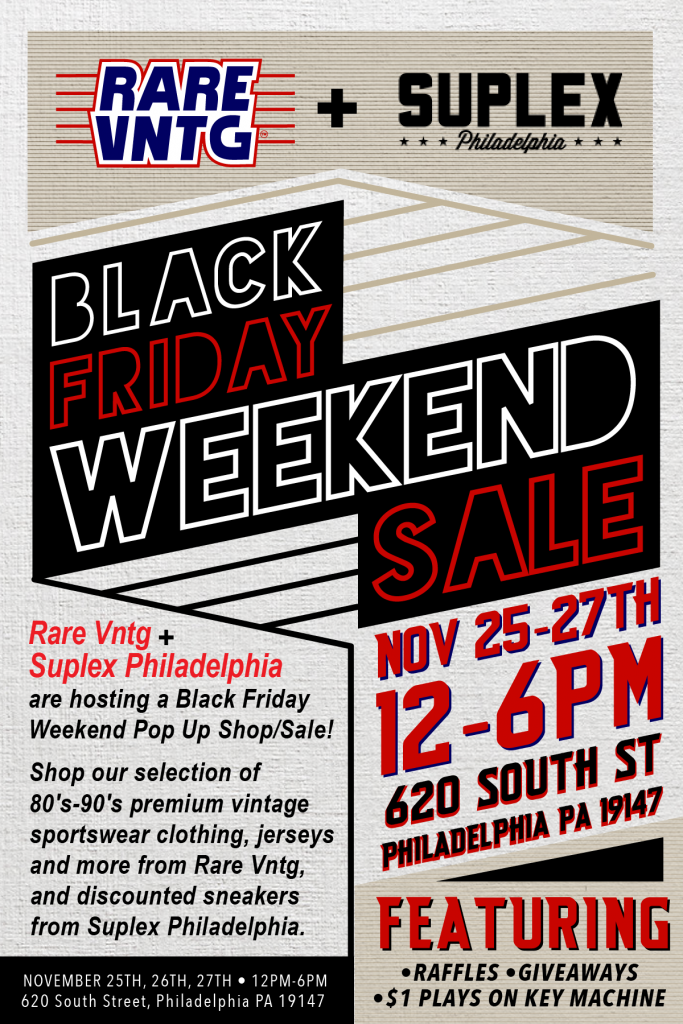 Rare Vntg Suplex Philadelphia Black Friday 2016 Pop Up Shop