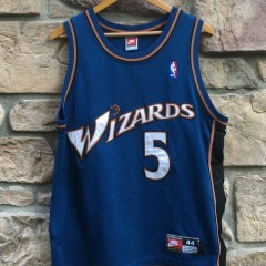 vintage 1998 Juwan Howard authentic washington wizards nike nba jersey size 44