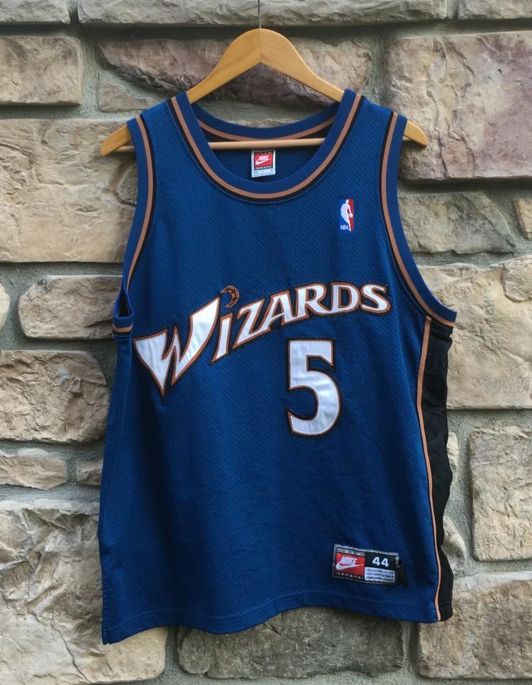 low priced 2f2f5 96ff0 1998 Juwan Howard Washington Wizards Authentic Nike NBA Jersey Size 44