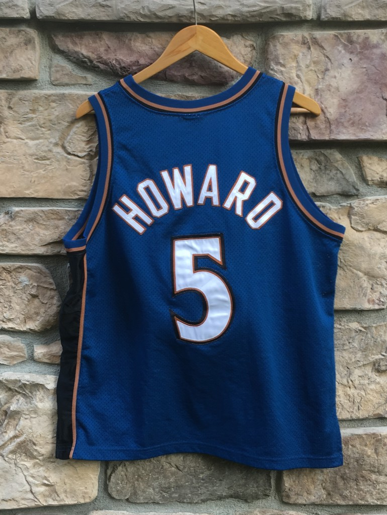 5b0d5dcc vintage Juwan Howard Washington wizards authentic NBA jersey. Size 44  authentic vintage Nike NBA jersey