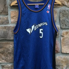 2001 Kwame Brown Washington Wizards champion nba jersey