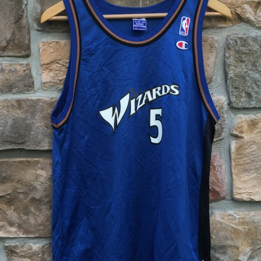 2001 Kwame Brown Washington Wizards champion nba jersey