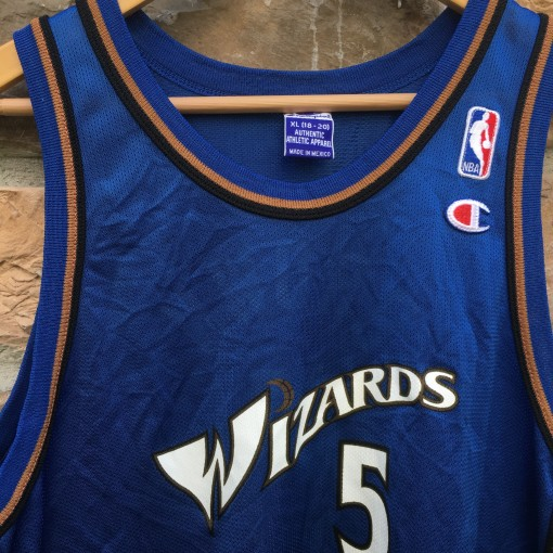 vintage Wizards Champion NBA jersey