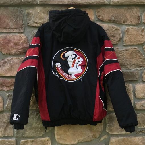 Vintage 90's Florida State Seminoles Black starter pullover winter jacket