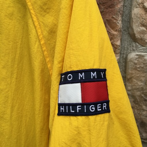 Vintage 90's Tommy Hilfiger yellow patch windbreaker jacket