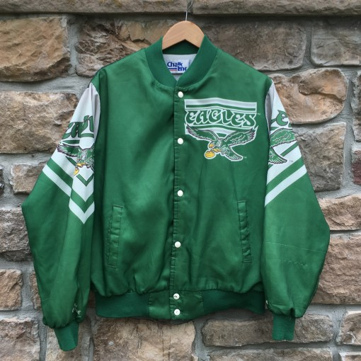 80's Philadelphia Eagles Chalkline Fanimation jacket size large