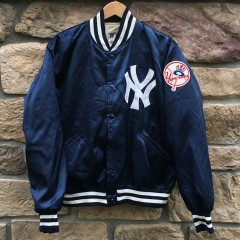 vintage 80's New York Yankees felco satin starter jacket size large