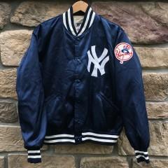 vintage 80's New York Yankees felco satin starter jacket size large