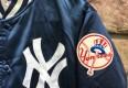 vintage 80's New York Yankees satin jacket
