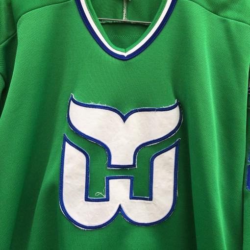 vintage 90's Green Hartford Whalers NHL jersey