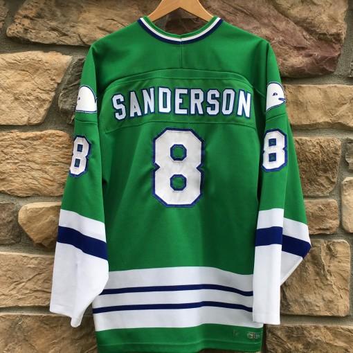 Vintage Geoff Sanderson Hartford Whalers CCM jersey size xl