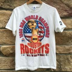 Vintage 1995 Houston Rockets Back to back nba champions Starter NBA shirt size Medium