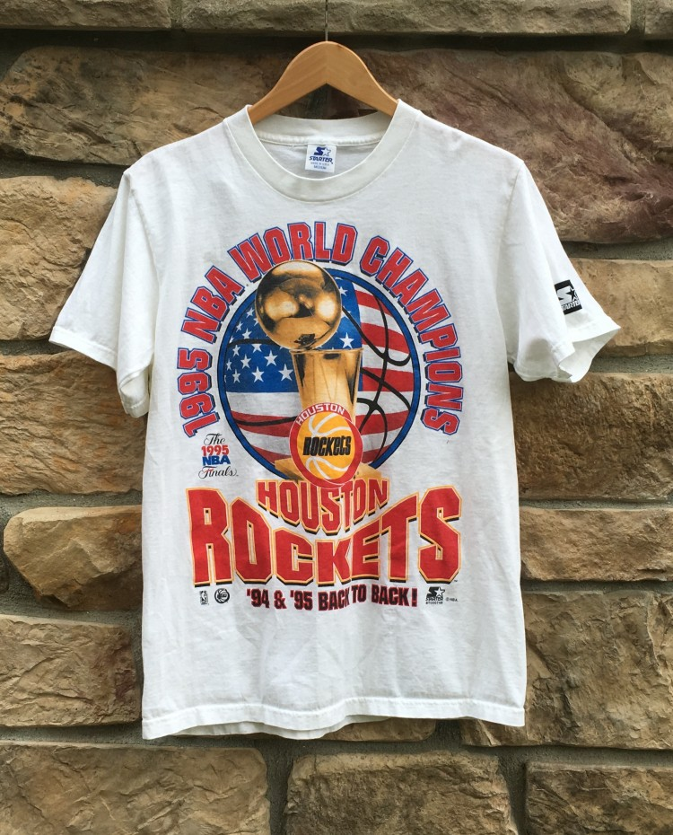 Houston Rockets Nba Championships: 1995 Houston Rockets World Champions Starter NBA T Shirt