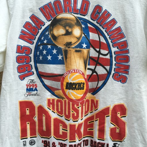 Houston Rockets Championship Roster: 1995 Houston Rockets World Champions Starter NBA T Shirt