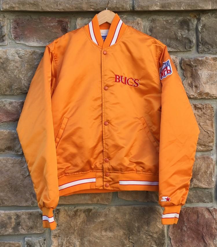 375cf368 80's Tampa Bay Buccaneers Starter NFL Satin Jacket Size Medium