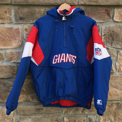 vintage 80's 90's New York Giants Starter Pullover nfl jacket