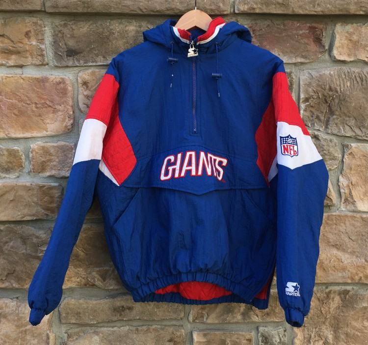 new arrival 3d226 cae1d 90's New York Giants Starter Pullover NFL Jacket Size Medium
