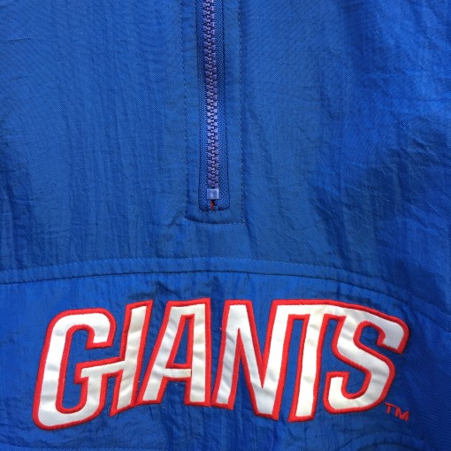 vintage new york giants starter nfl pullover jacket