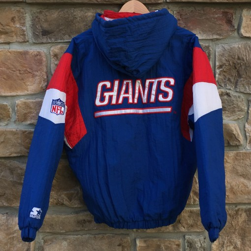 vintage 90's New York Giants Starter Pullover NFL jacket
