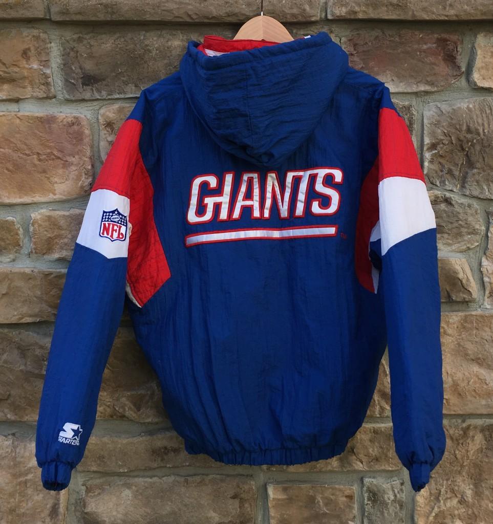 new arrival 27cb5 8aa0e 90's New York Giants Starter Pullover NFL Jacket Size Medium
