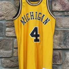 vintage university of michigan fab 5 jersey size 44 large