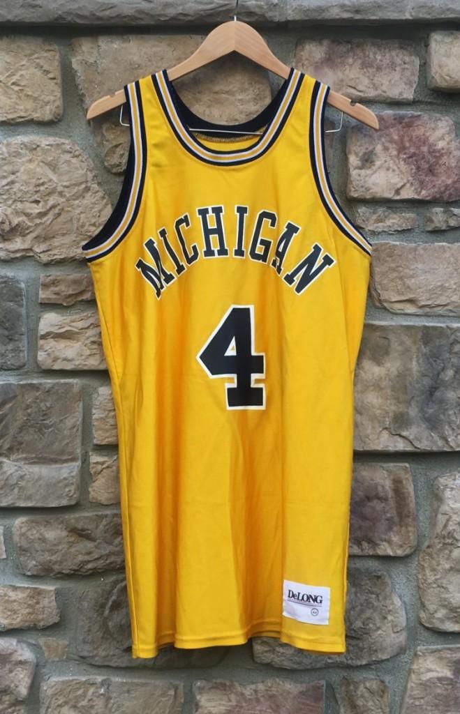 best service f029d d39f9 1992 Chris Webber University of Michigan Yellow Delong NCAA Jersey Size 44