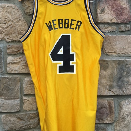 Vintage Chris Webber Michigan fab 5 jersey size 44 large
