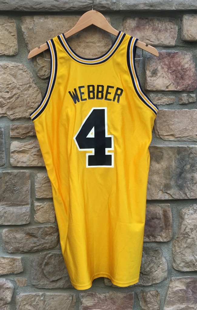 sports shoes 1f03f 248d2 clearance vintage chris webber 4 universirty michigan ...