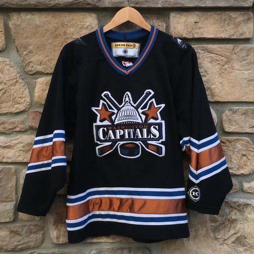 vintage 90's Washington Capitals black alterante koho jerseys size small
