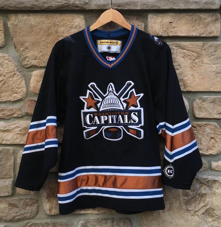 vintage 90 s Washington Capitals black alterante koho jerseys size small 2cad31df6
