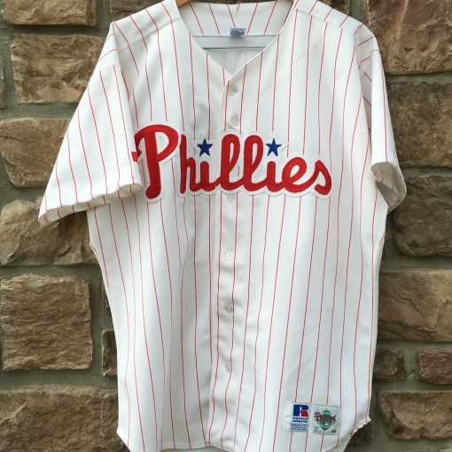 vintage 90's Philadelphia Phillies Russell Diamond Collection MLB jersey size 48