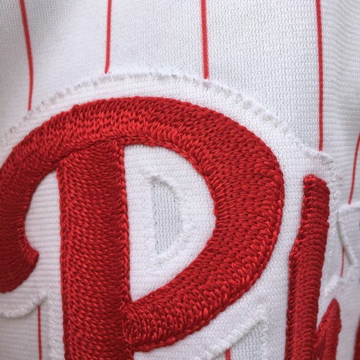 Chain Stitch on Phillies authentic jersey