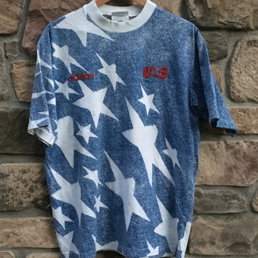 1994 Team USA Soccer Faux Denim soccer t shirt adidas